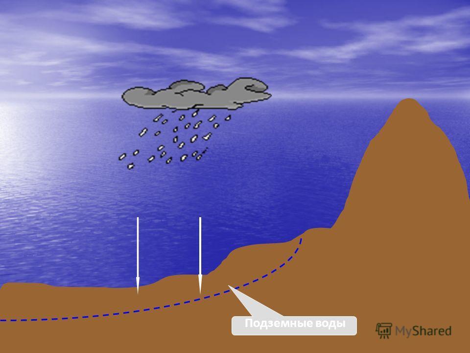Вода, находящаяся в земной коре, называется подземной водой. Основной источник пополнения подземных вод – атмосферные осадки. Вода просачивается сквозь горные породы сразу после дождя, или при таянии снега, либо поступает постепенно через реки и озёр