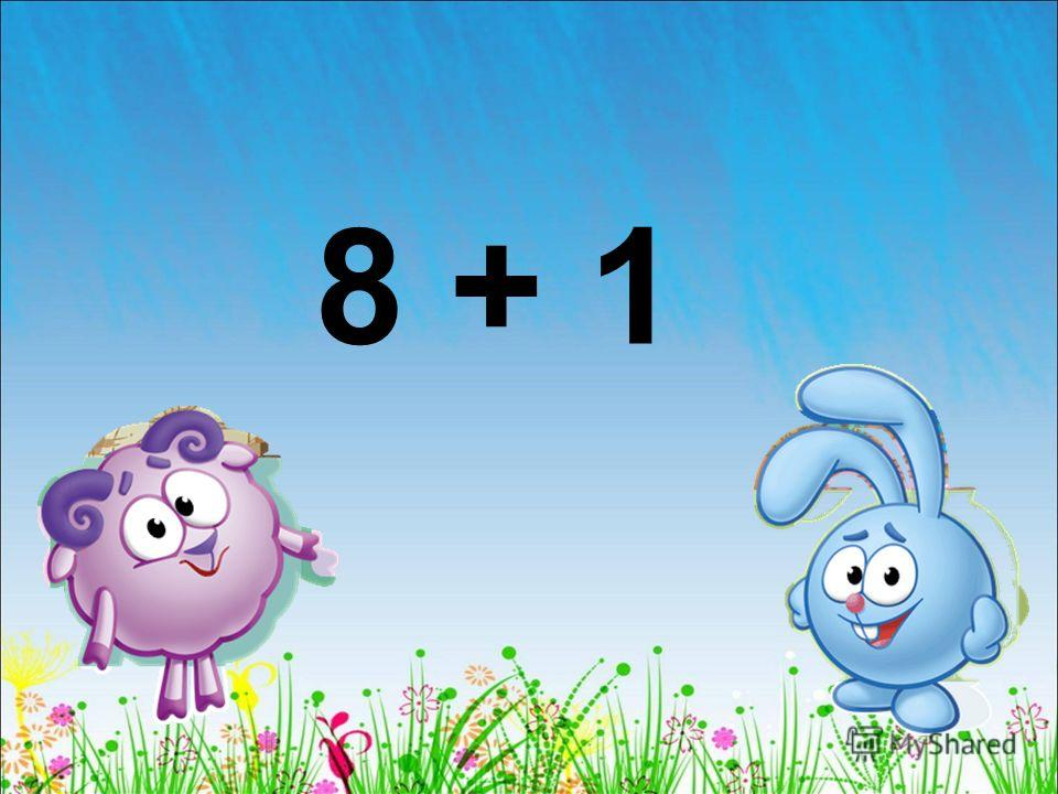 8 + 1