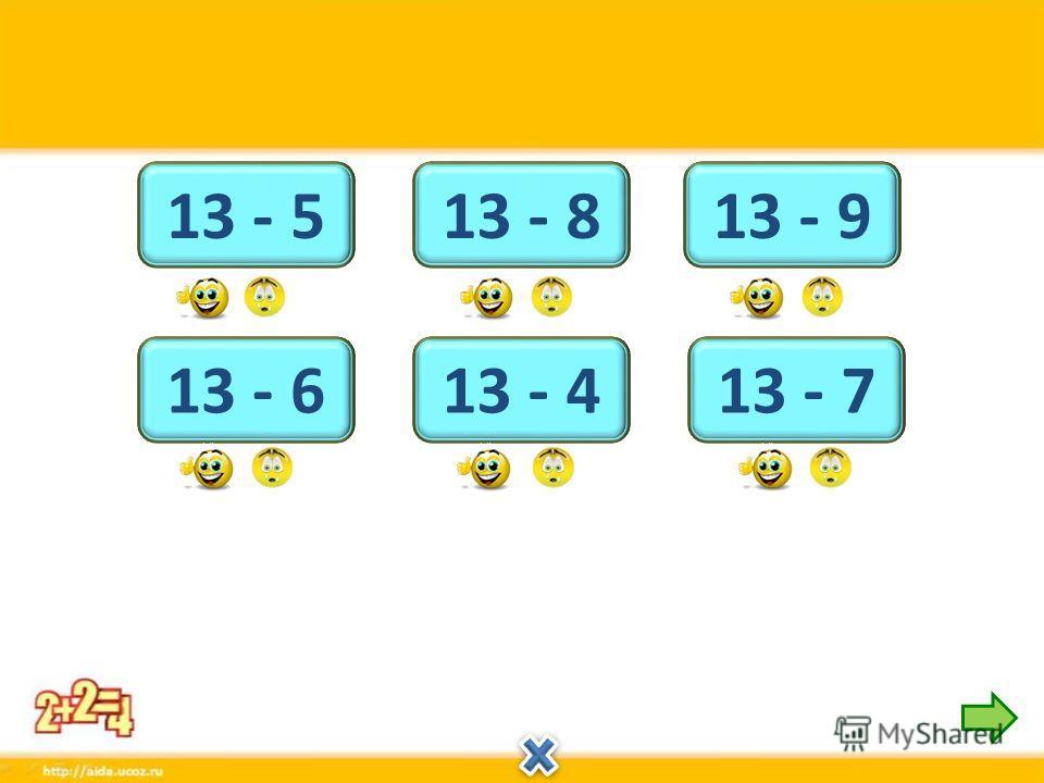 4 13 - 9 9 13 - 4 5 13 - 8 7 13 - 6 6 13 - 7 8 13 - 5