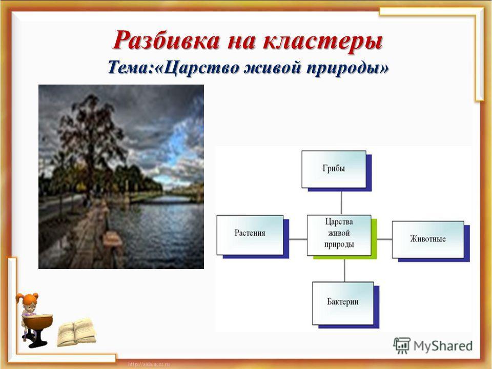 Разбивка на кластеры Тема :« Царство живой природы »