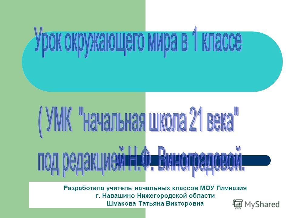 Разработала учитель начальных классов МОУ Гимназия г. Навашино Нижегородской области Шмакова Татьяна Викторовна