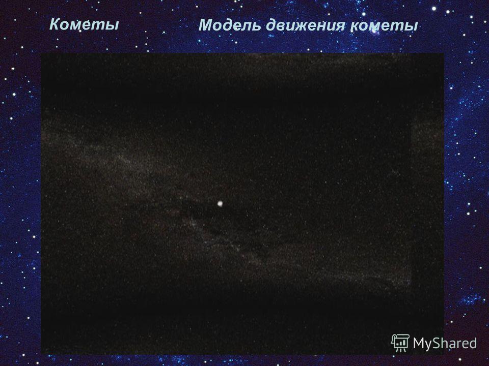 Модель движения кометы