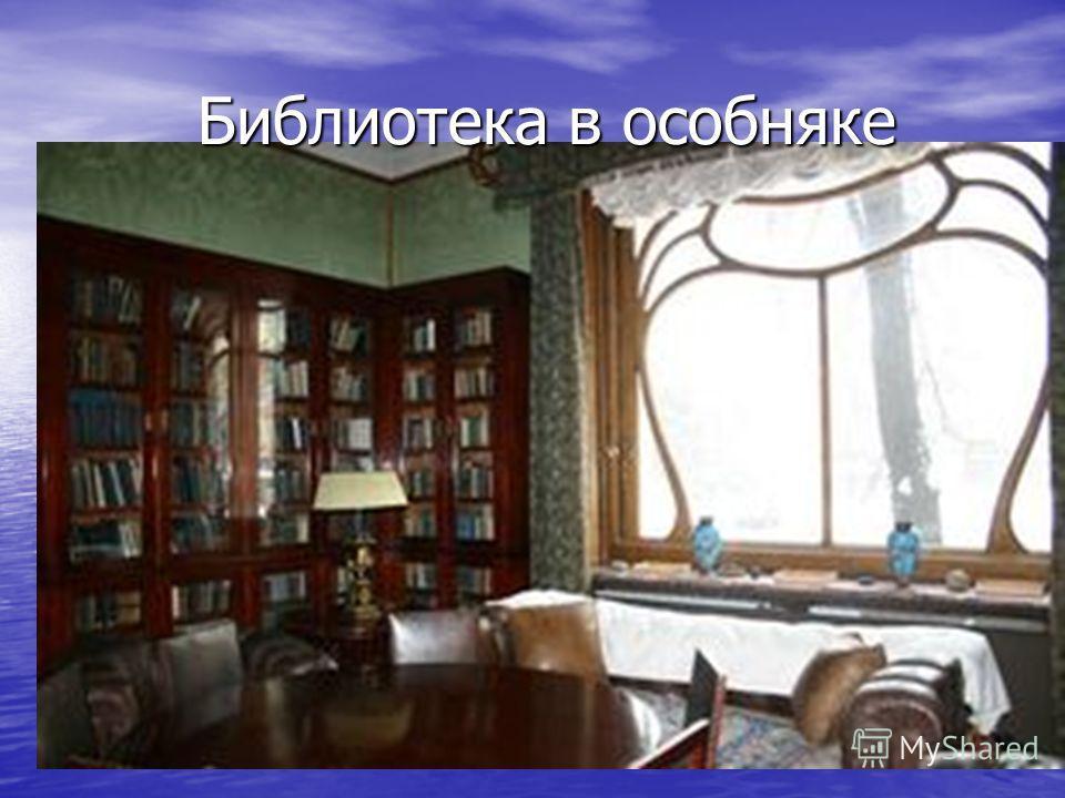 Библиотека в особняке