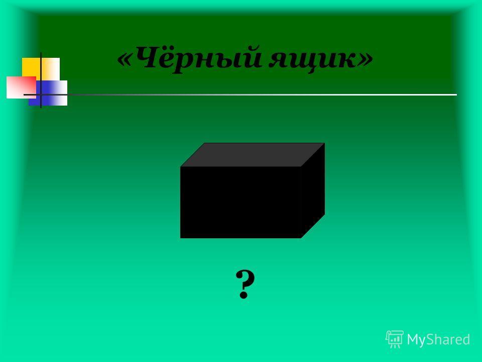 «Чёрный ящик» ?