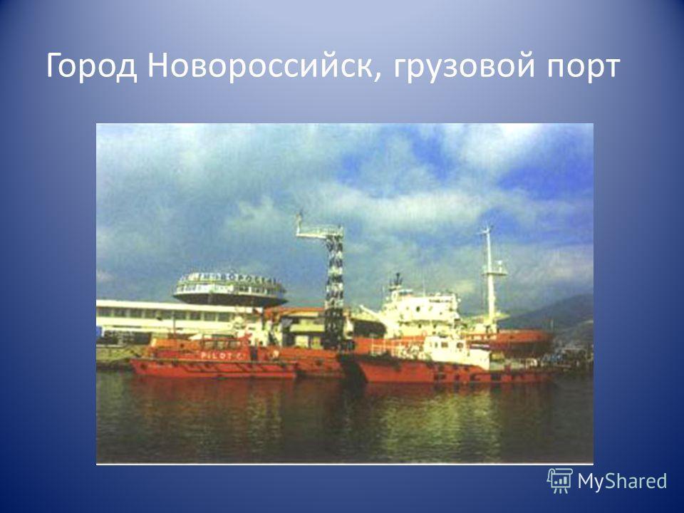 Город Новороссийск, грузовой порт