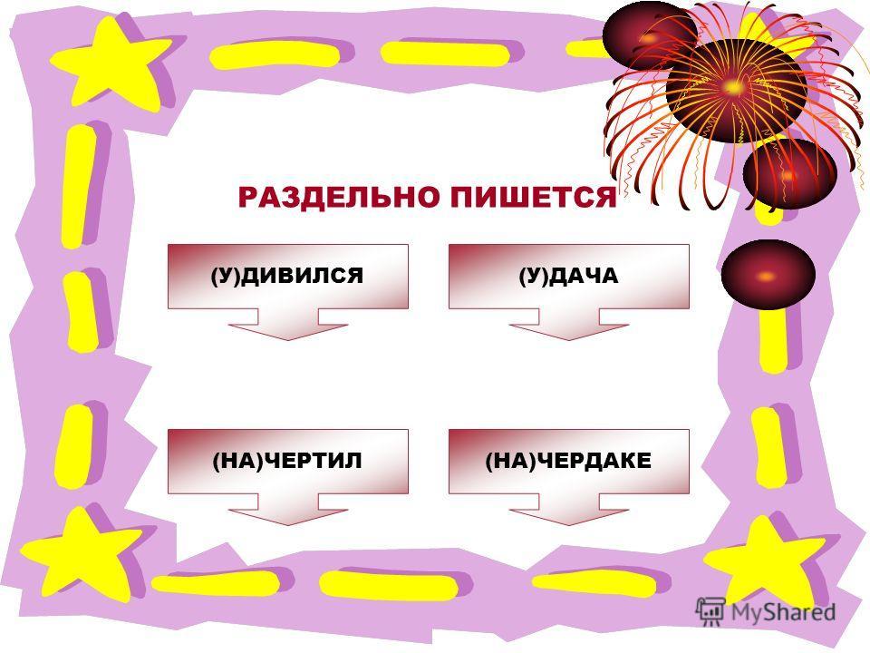 ОШИБКА! Этот текст выводится при ошибке. ПРАВИЛЬНО! Этот текст выводится при правильном ответе. РАЗДЕЛЬНО ПИШЕТСЯ (НА)ЧЕРДАКЕ(НА)ЧЕРТИЛ (У)ДИВИЛСЯ(У)ДАЧА