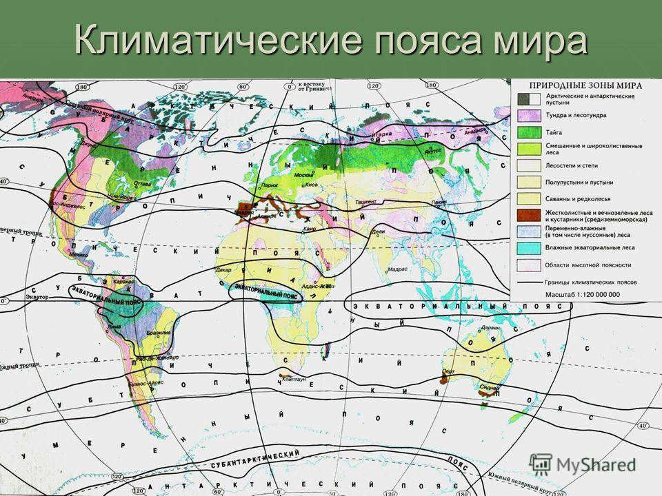 Климатические пояса мира