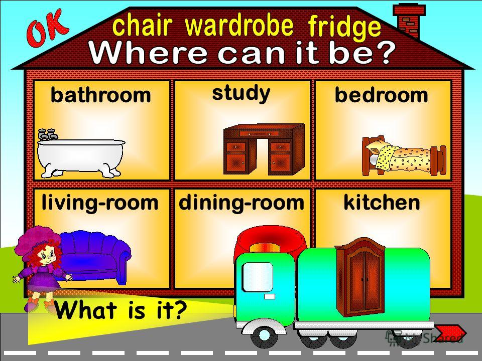 bathroom living-room bedroom study dining-roomkitchen What is it?