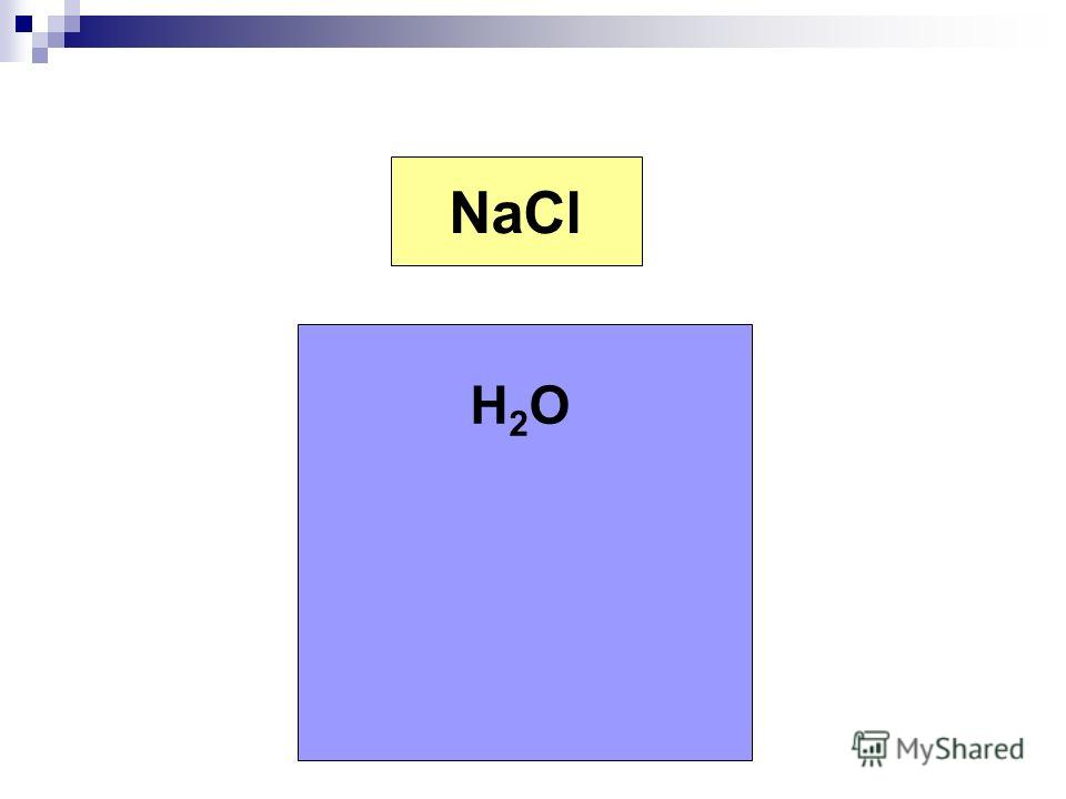 Na + Cl - NaCl H2OH2O