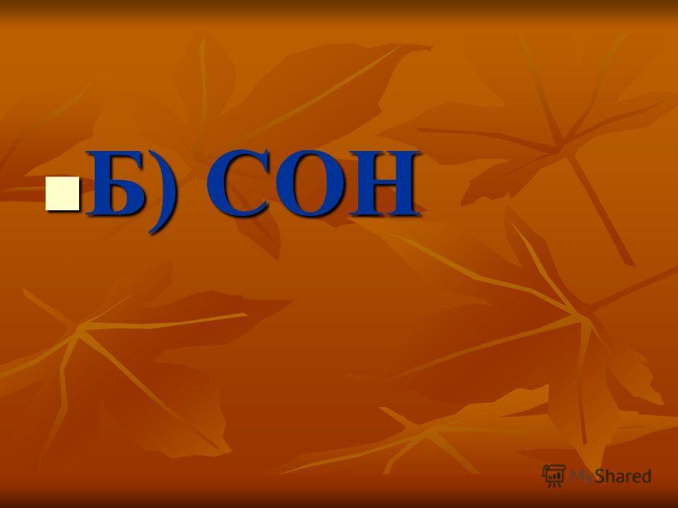 Б) СОН Б) СОН