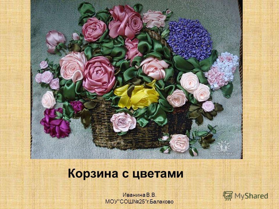 Корзина с цветами Иванина В.В. МОУСОШ25г.Балаково