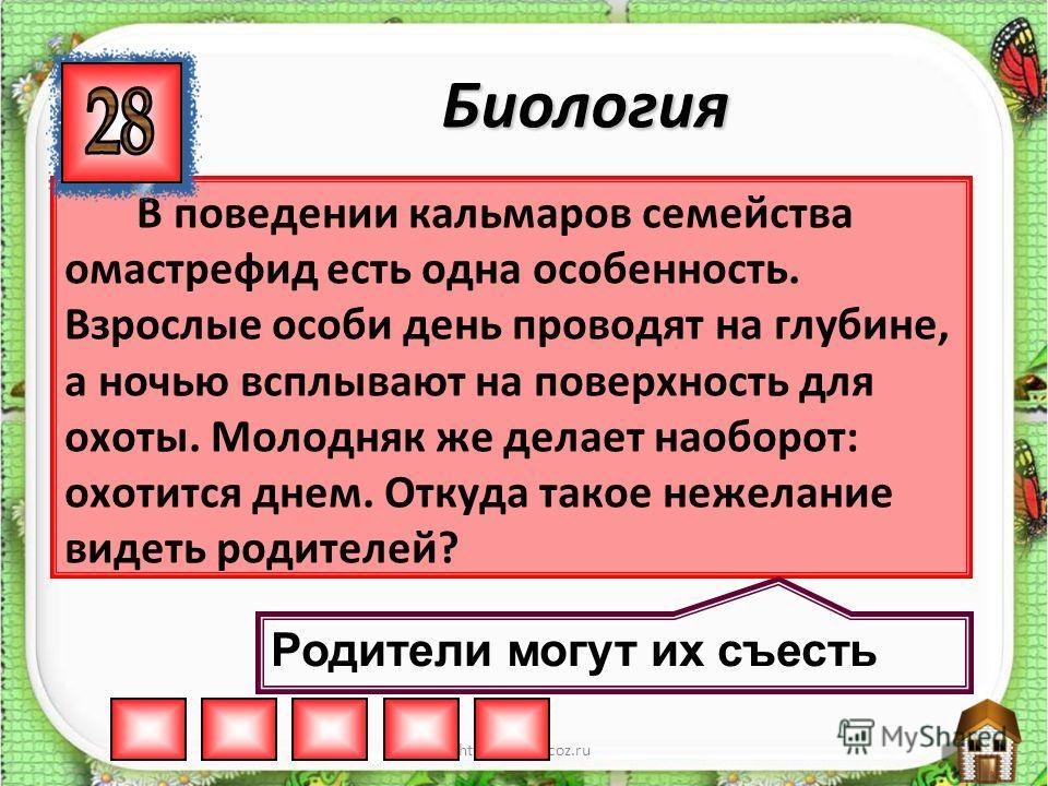 http://aida.ucoz.ru Назовите птицу, у которой отношение массы яйца к массе тела самое маленькое. Страус Биология