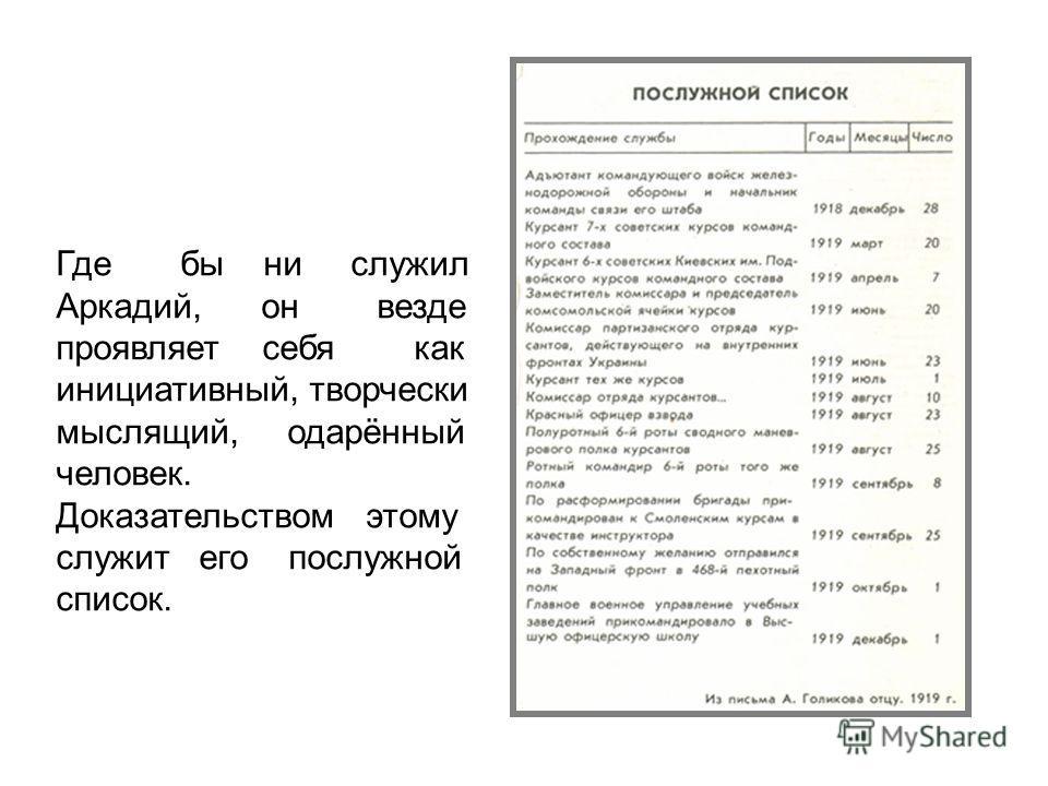 Аркадий Голиков. 1919 год. На обороте снимка в 1927 г. рукой Гайдара написано: «Адъютант командующего охраны и обороны всех железных дорог. Гайдар. 15 лет»