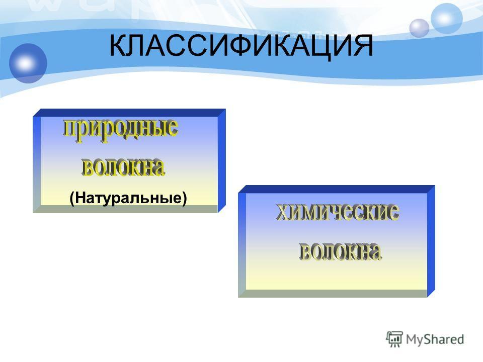 КЛАССИФИКАЦИЯ (Натуральные)
