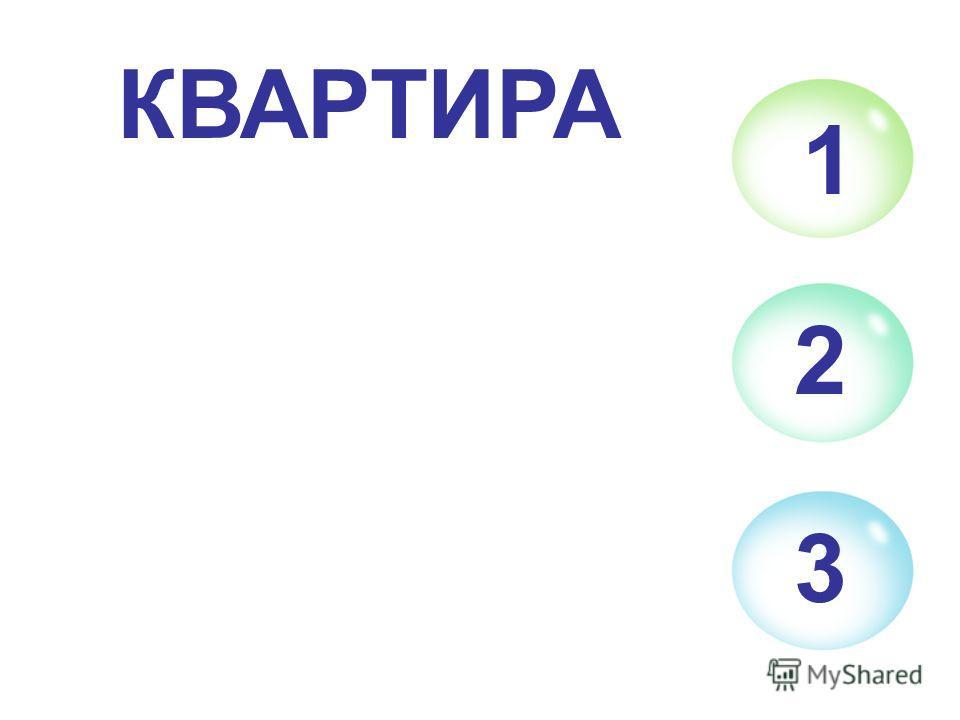 1 2 3 КВАРТИРА