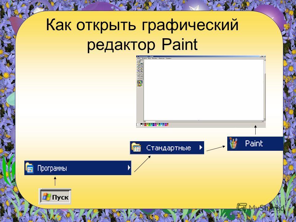 4 Как открыть графический редактор Paint
