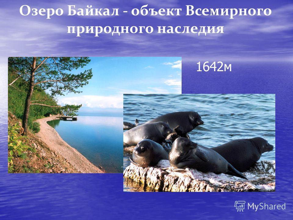 Озеро Байкал - объект Всемирного природного наследия 1642 м