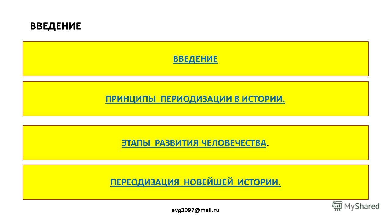 ПРОБЛЕМЫ ПЕРЕОДИЗАЦИИ ВСЕМИРНОЙ ИСТОРИИ. 10КЛ evg3097@mail. ru