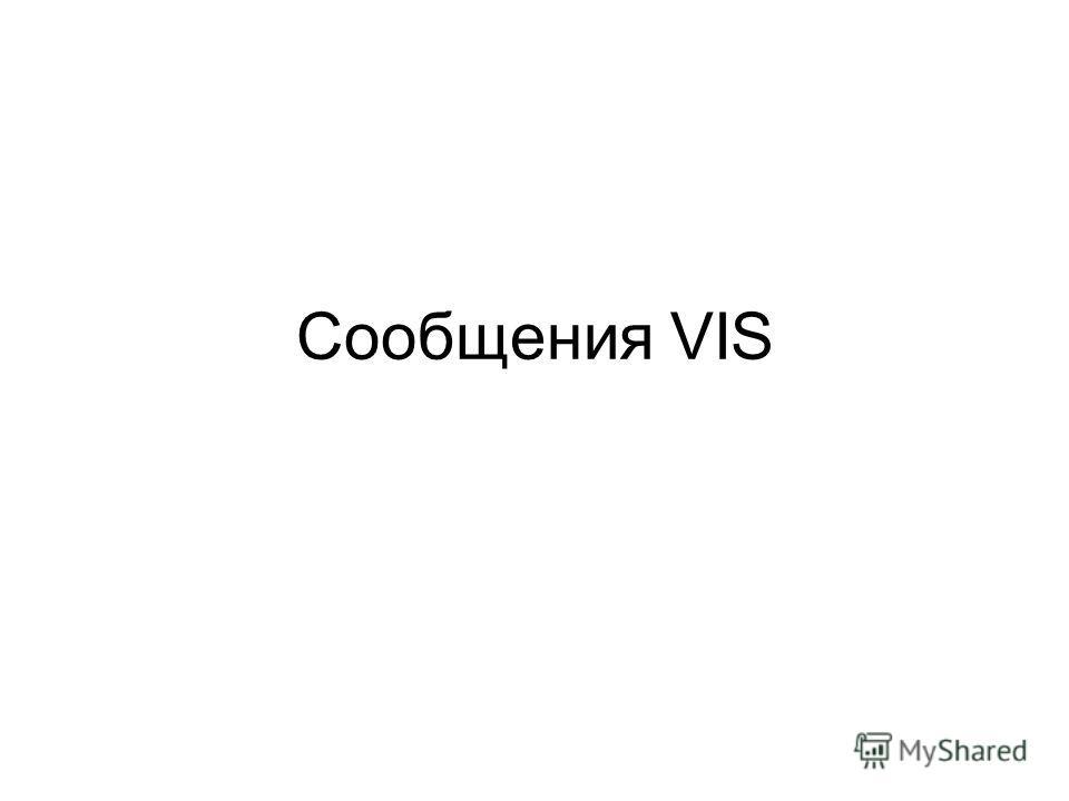Cообщения VIS