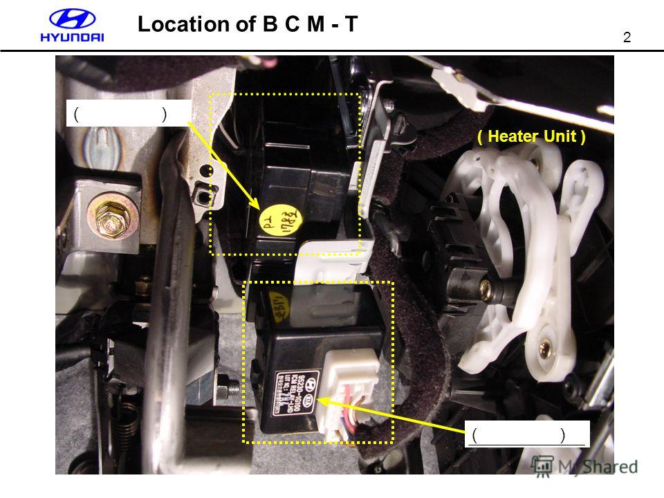 2 ( ) ( Heater Unit ) Location of B C M - T