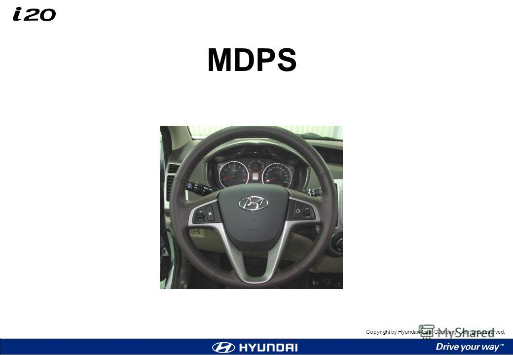 Copyright by Hyundai Motor Company. All rights reserved. MDPS