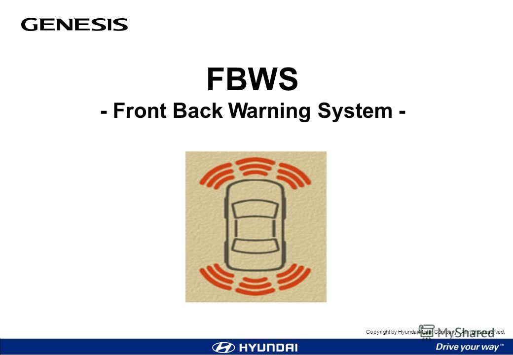 Copyright by Hyundai Motor Company. All rights reserved. FBWS - Front Back Warning System -