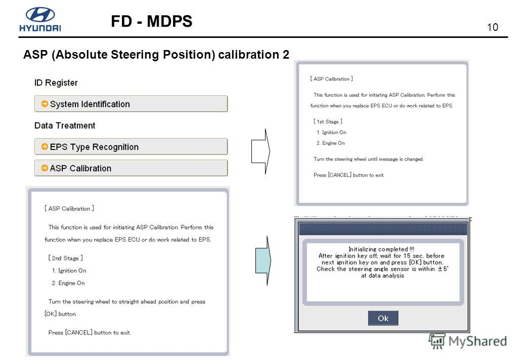 10 FD - MDPS ASP (Absolute Steering Position) calibration 2
