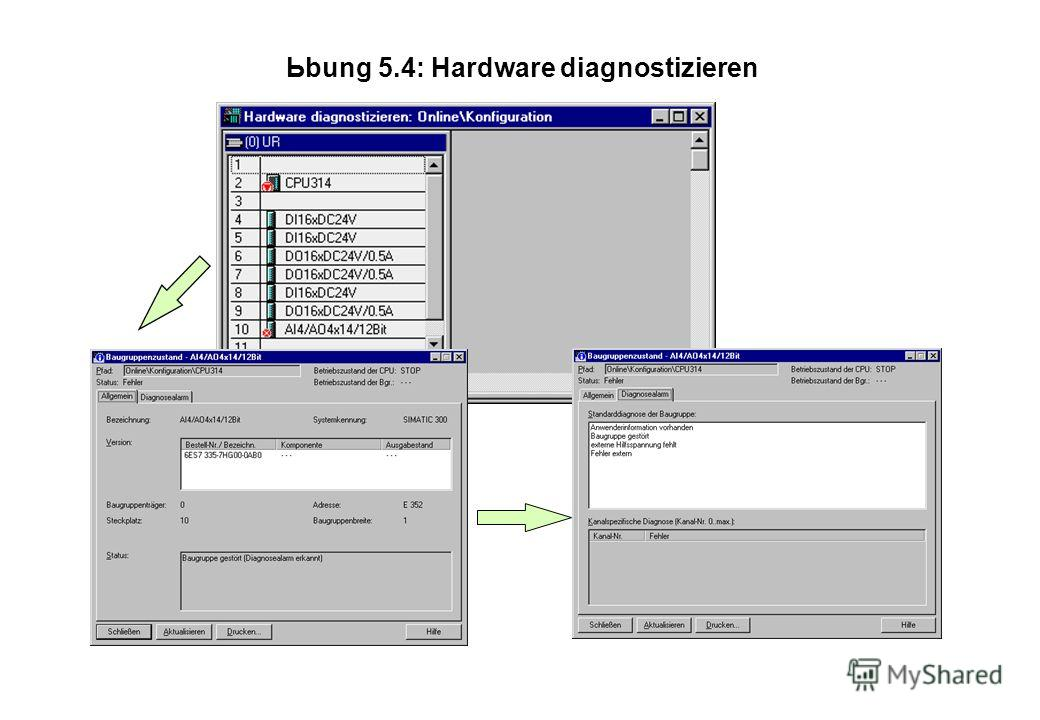 Ьbung 5.4: Hardware diagnostizieren