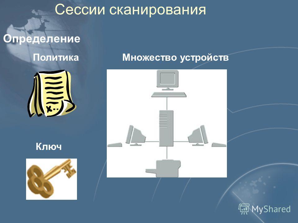 Сессии сканирования Определение Политика Множество устройств Ключ