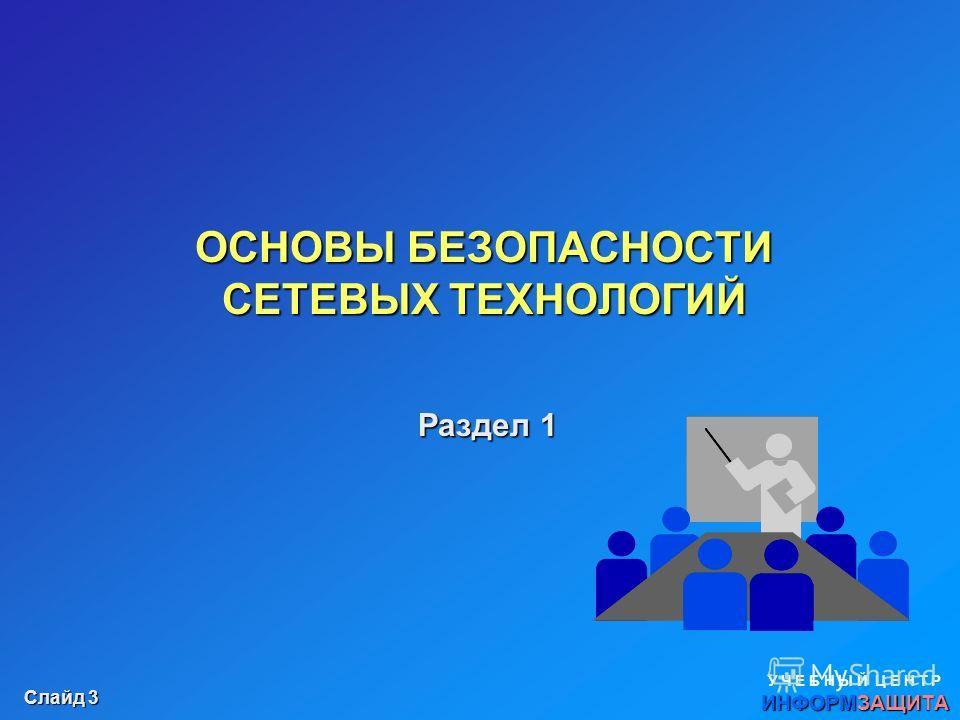 Слайд 2 Разделы курса: Основы безопасности сетевых технологий Раздел 1. Основы безопасности сетевых технологий Безопасность уровня сетевого взаимодействия Безопасность уровня операционных систем (узлов) Раздел 2. Безопасность уровня сетевого взаимоде