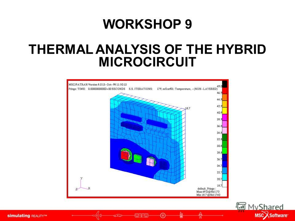 WORKSHOP 9 THERMAL ANALYSIS OF THE HYBRID MICROCIRCUIT