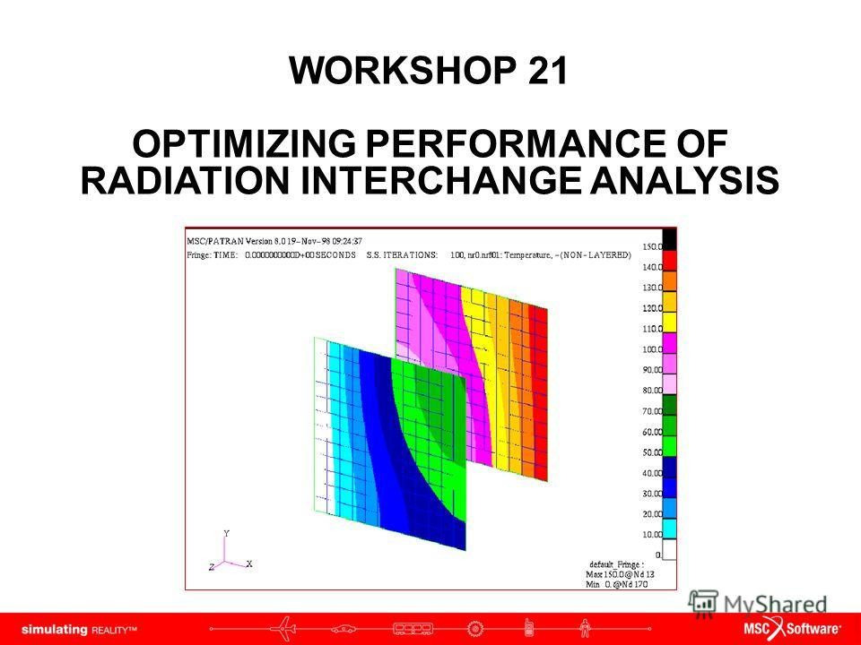WORKSHOP 21 OPTIMIZING PERFORMANCE OF RADIATION INTERCHANGE ANALYSIS