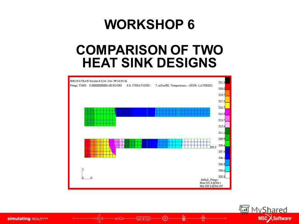 WORKSHOP 6 COMPARISON OF TWO HEAT SINK DESIGNS