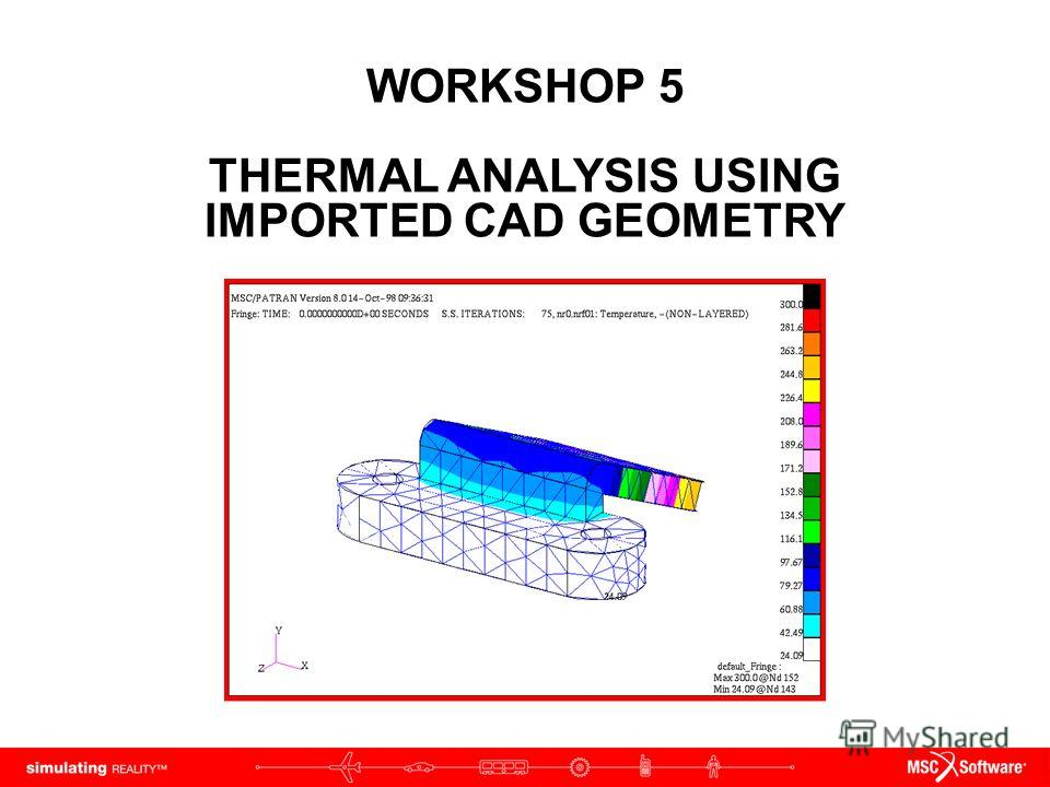WORKSHOP 5 THERMAL ANALYSIS USING IMPORTED CAD GEOMETRY