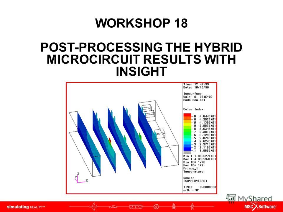 WORKSHOP 18 POST-PROCESSING THE HYBRID MICROCIRCUIT RESULTS WITH INSIGHT