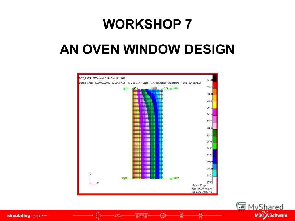 WORKSHOP 7 AN OVEN WINDOW DESIGN