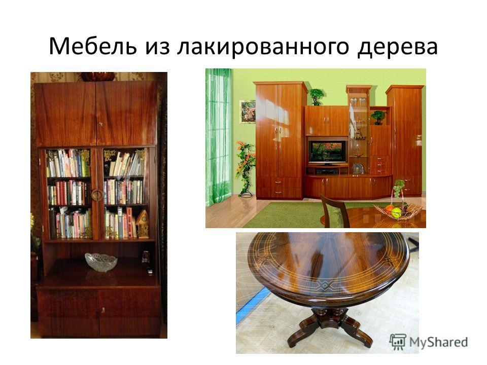 Мебель из лакированного дерева