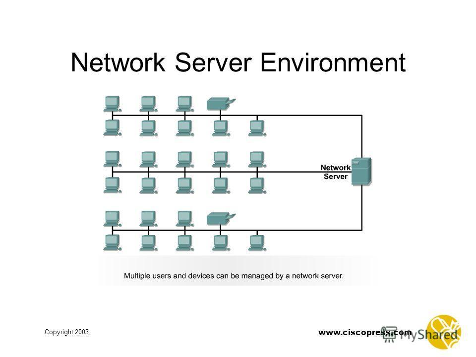 www.ciscopress.com Copyright 2003 Network Server Environment
