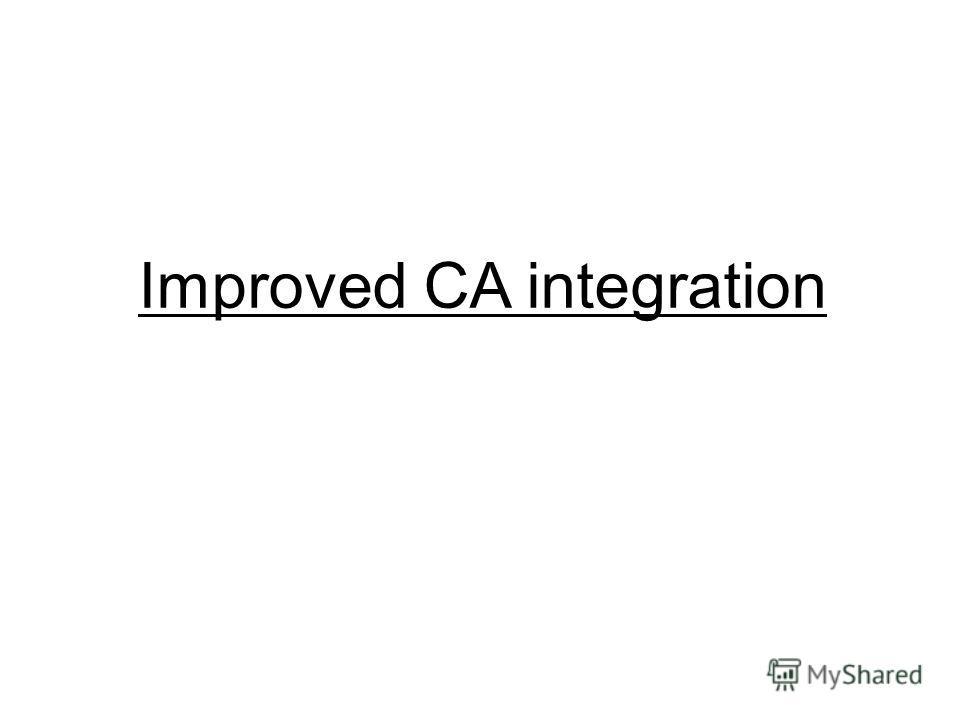 Improved CA integration