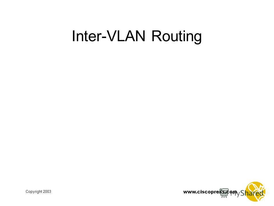 www.ciscopress.com Copyright 2003 Inter-VLAN Routing