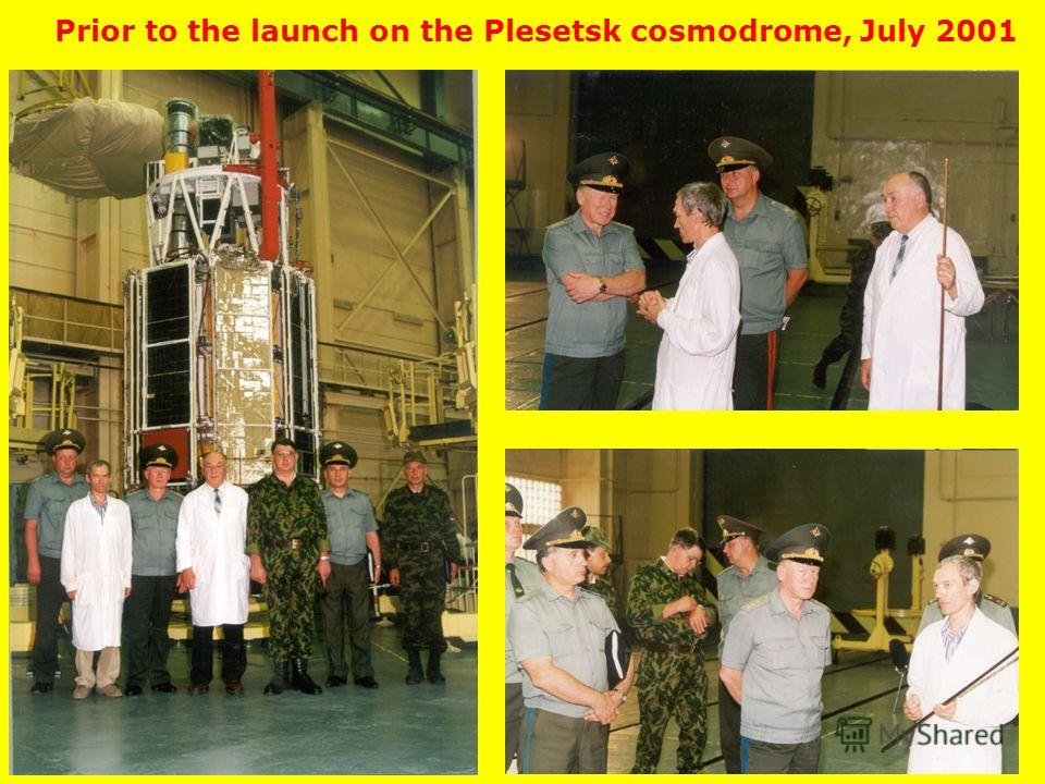 Prior to the launch on the Plesetsk cosmodrome, July 2001