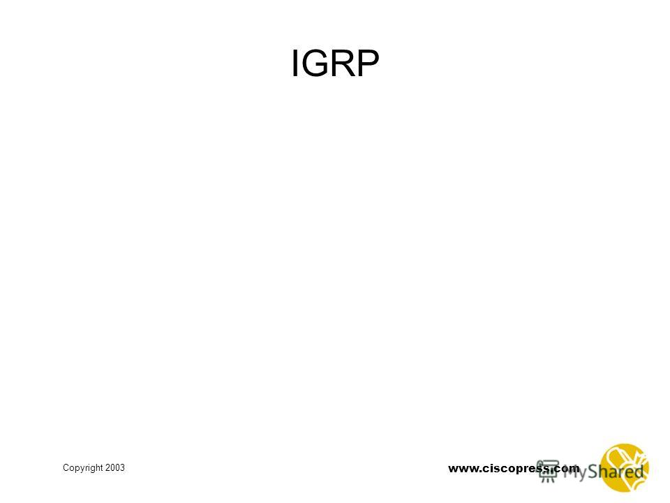 www.ciscopress.com Copyright 2003 IGRP