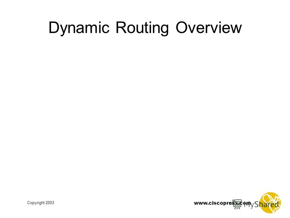 www.ciscopress.com Copyright 2003 Dynamic Routing Overview
