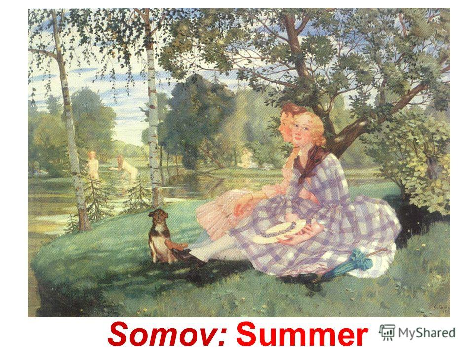 Somov: Winter. Skating-rink