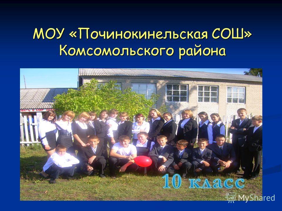 МОУ «Починокинельская СОШ» Комсомольского района Мой любимый класс Мой любимый класс