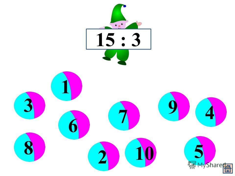 15 : 3 3 6 910 5 87 421