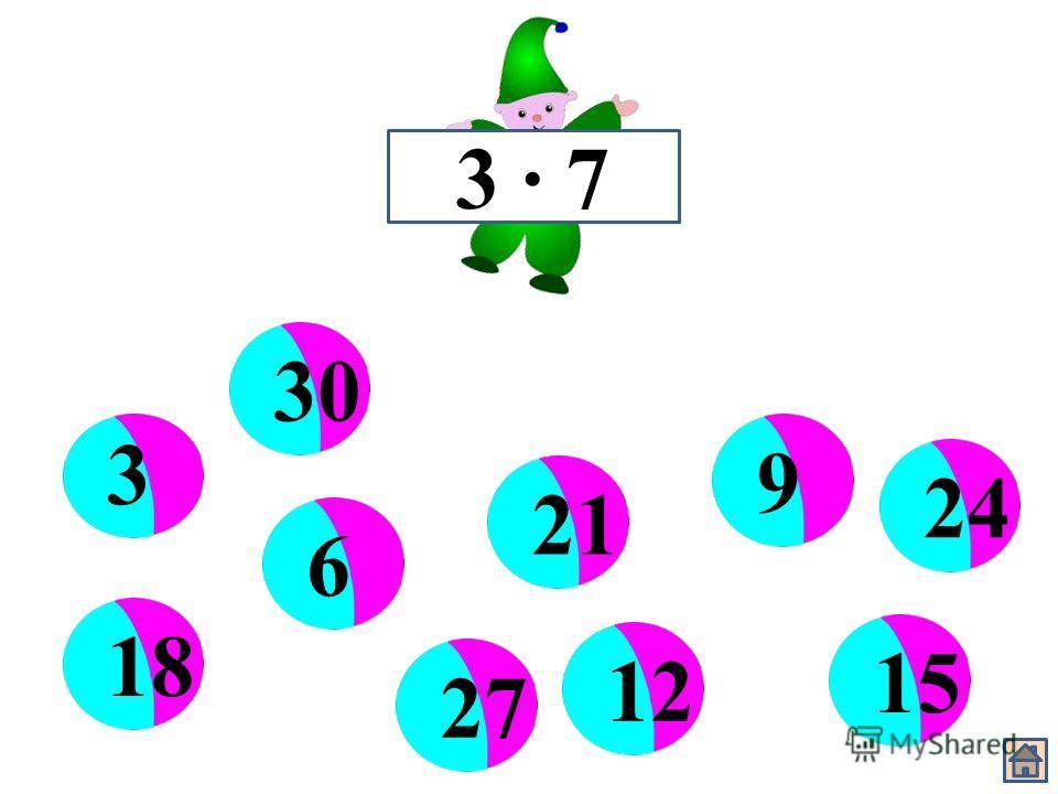 3 · 7 3 6 912 15 1821 242730