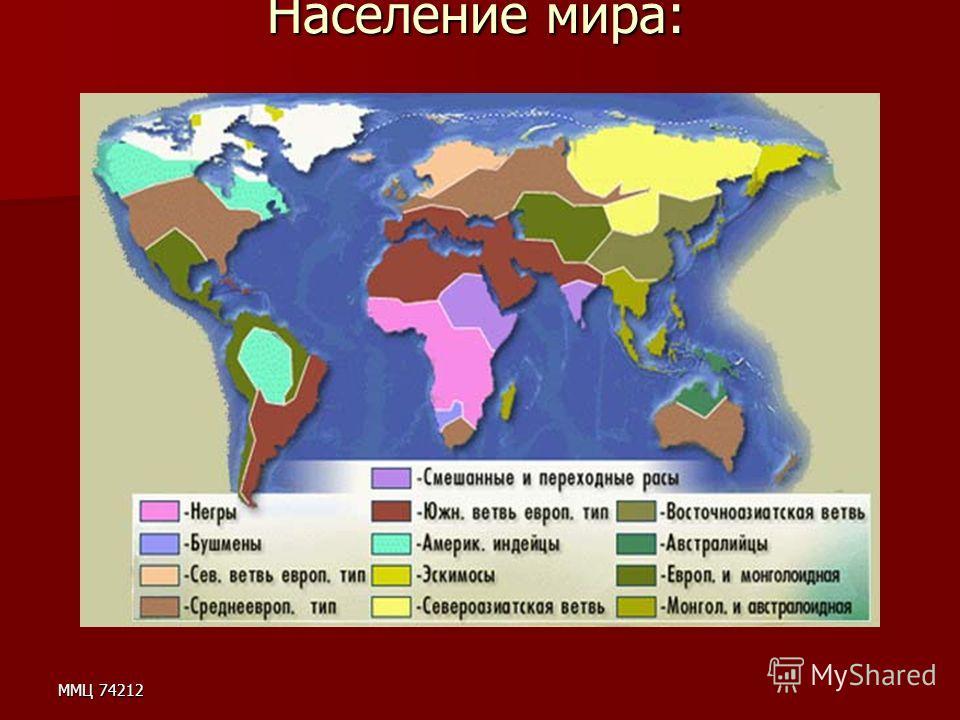 ММЦ 74212 Население мира: Население мира: