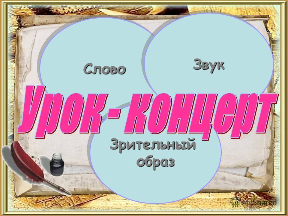 Слово Слово Зрительныйобраз Зрительныйобраз Звук Звук