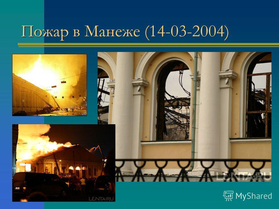 Пожар в Манеже (14-03-2004)
